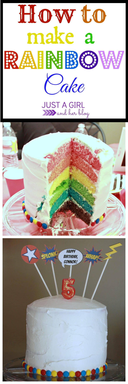 how to make a cake rainbow