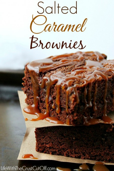 Life with the Crust Cut Off Salted Caramel Brownies