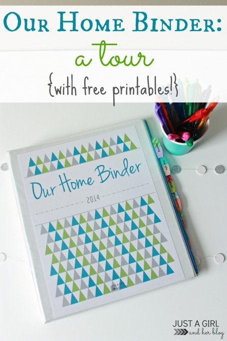 Our Home Binder: A Tour, Just a Girl and Her Blog