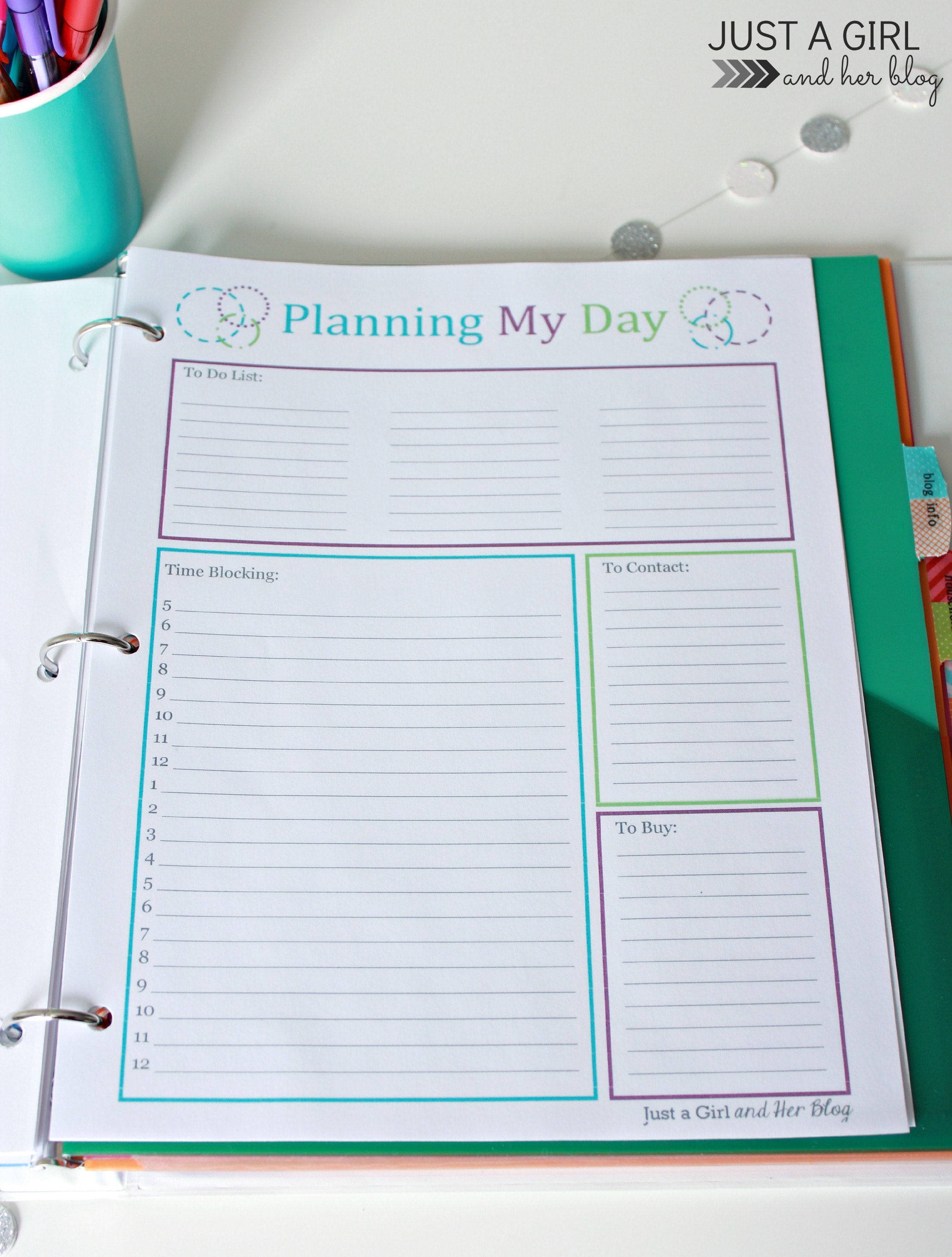 Our home binder a tour with free printables just a for Home planning binder