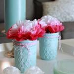 Simple Painted Glass Jars