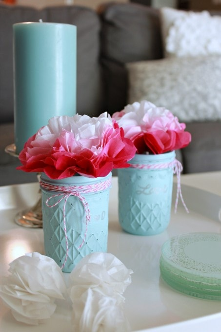 Simple Painted Glass Jars by Just a Girl and Her Blog