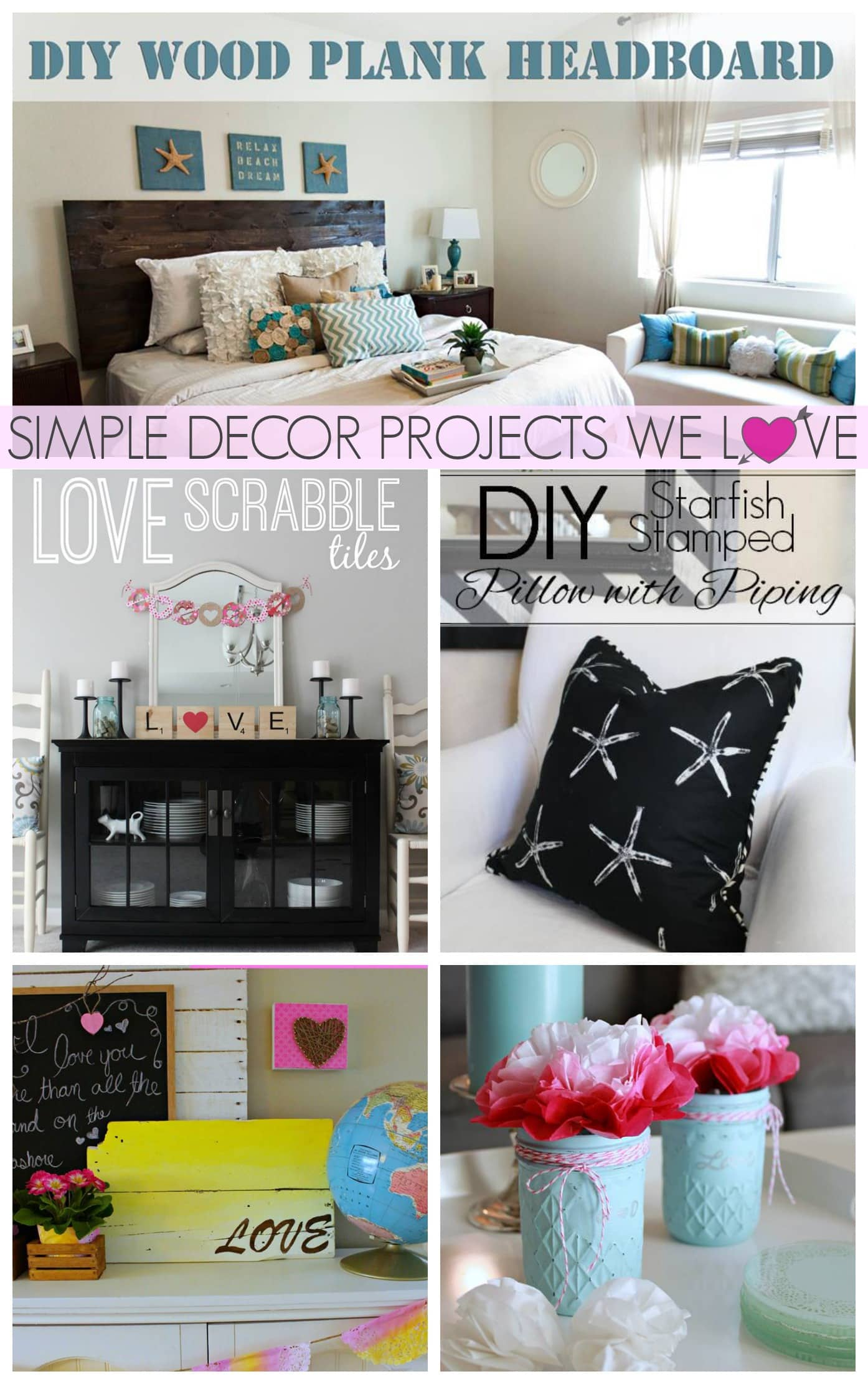 Get your diy on link up party simple decor projects we for Decor you adore facebook