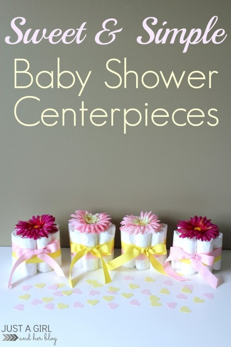 Sweet and Simple Baby Shower Centerpieces by Just a Girl and Her Blog