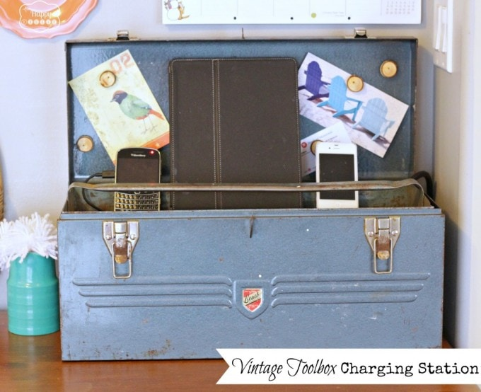 Vintage Toolbox Charging Station by The Happy Housie