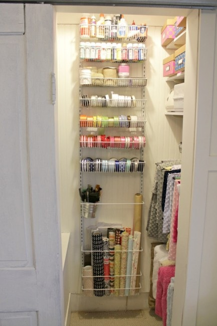 Craft Closet Organization by View from the Fridge
