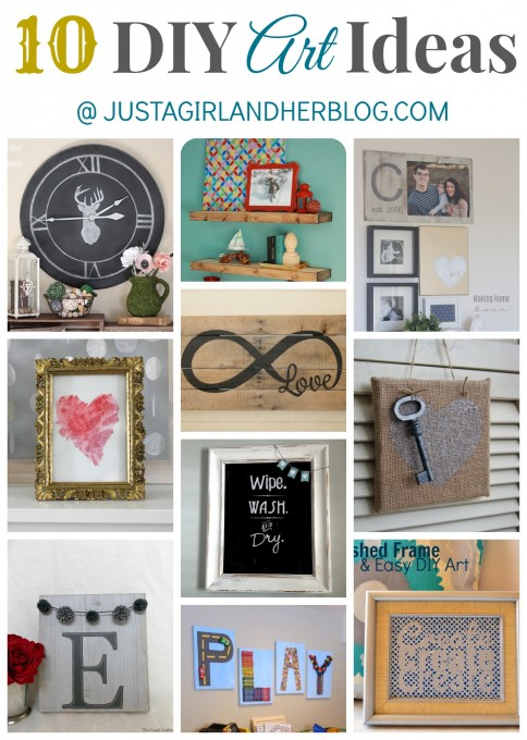 10 DIY Art Ideas at Just a Girl and Her Blog
