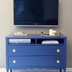 Bold and Blue: A Dresser to TV Stand Transformation
