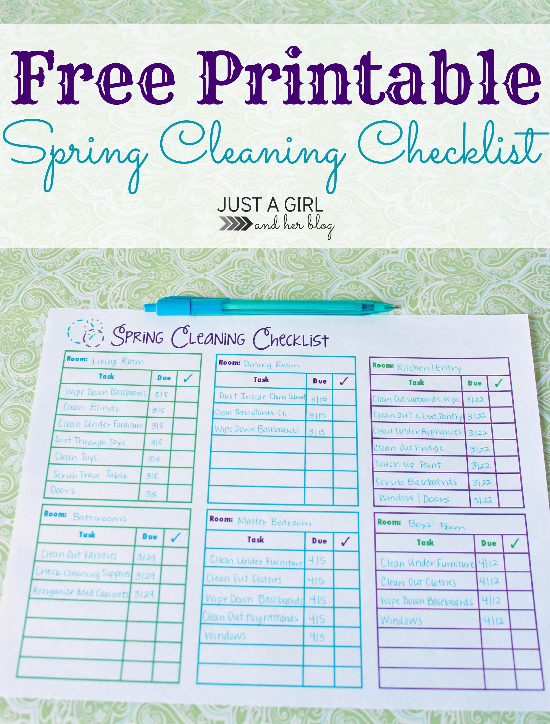 Spring Cleaning Checklist spring cleaning checklist - free printable - mom 4 real