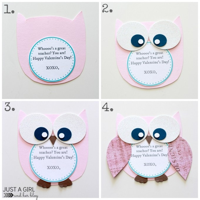 Owl Valentine Teacher Gifts by Just a Girl and Her Blog
