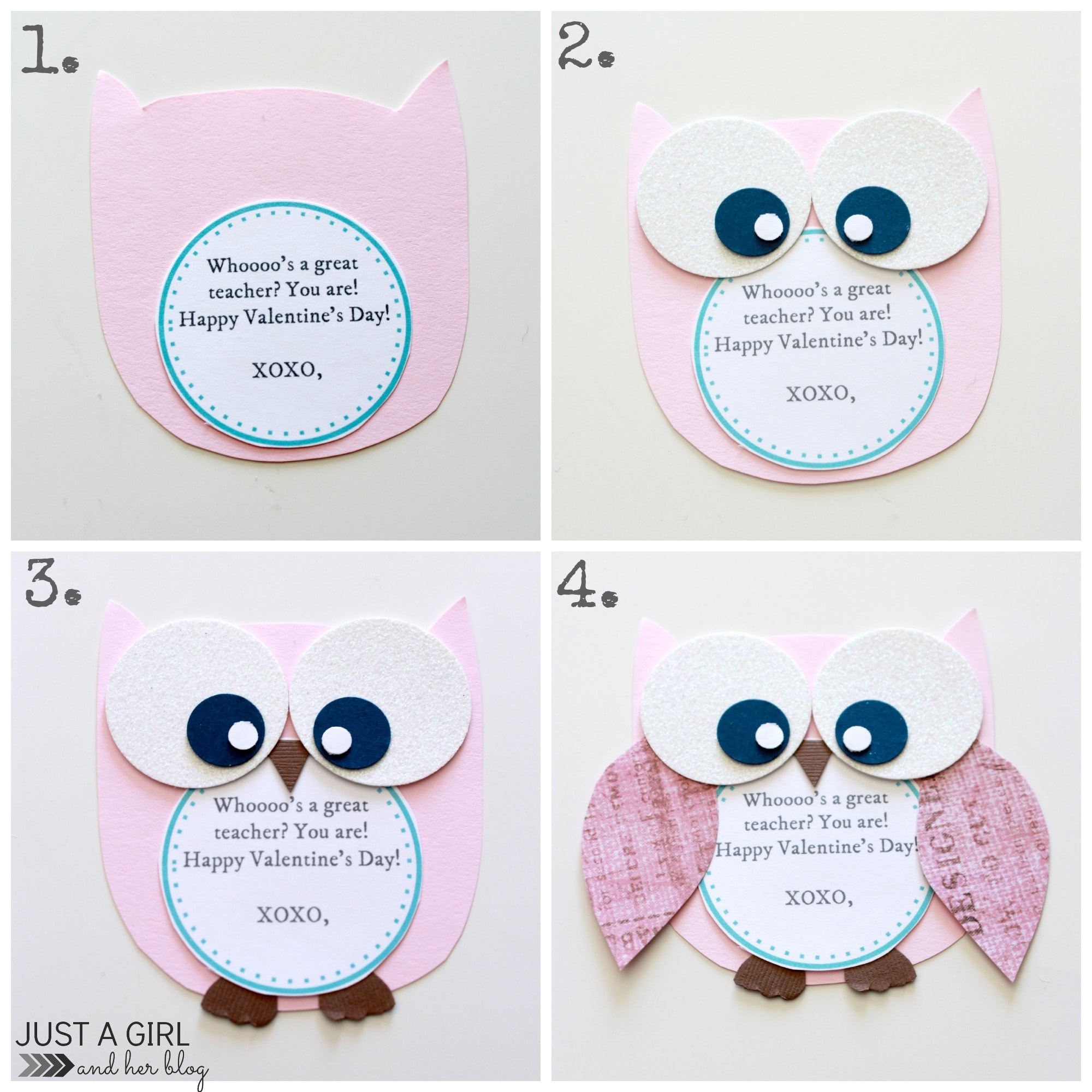 Owl Valentine Teacher GiftJust a Girl and Her Blog