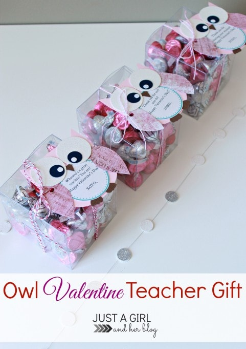 Owl Valentine Teacher Gift by Just a Girl and Her Blog