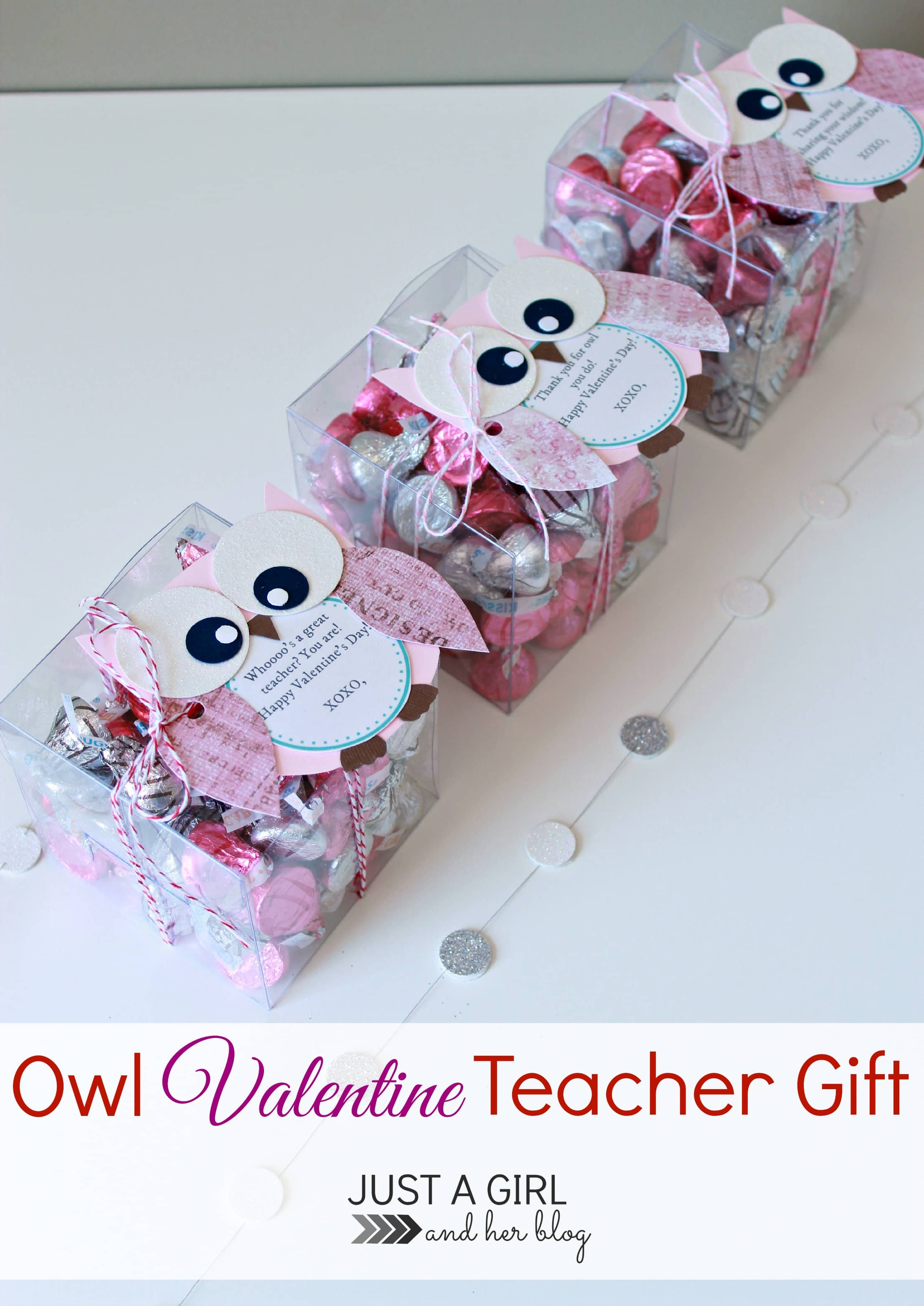 owl valentine teacher gift just a girl and her blog