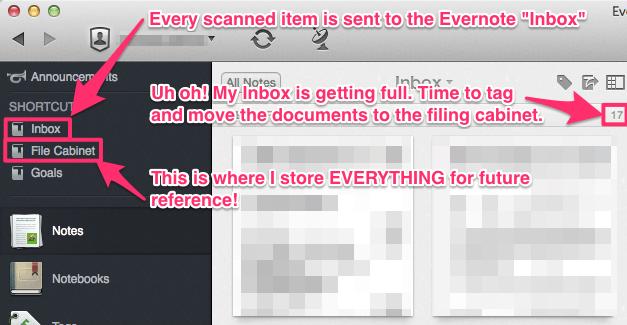 Evernote Paperless Workflow