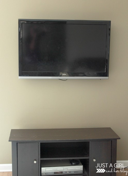 Dresser Turned TV Stand by Just a Girl and Her Blog