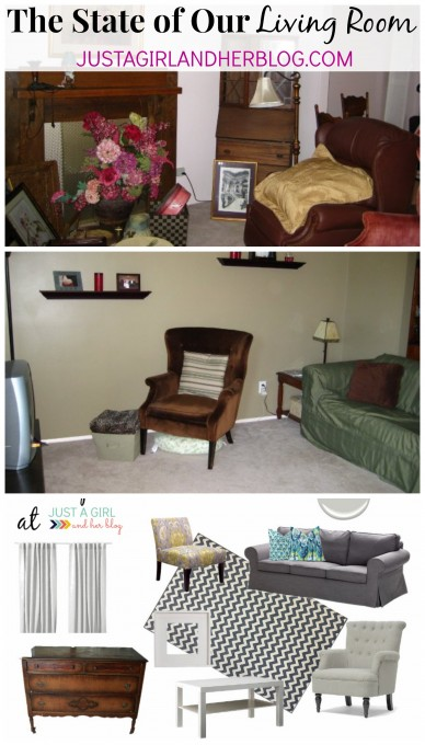 The State of Our Living Room by Just a Girl and Her Blog