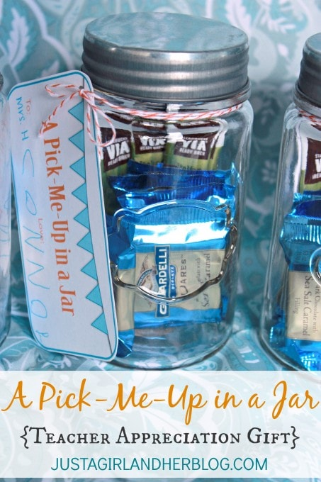 "Pick-Me-Up"" in a Jar {Teacher Gift with FREE Printables!} - Just a ..."