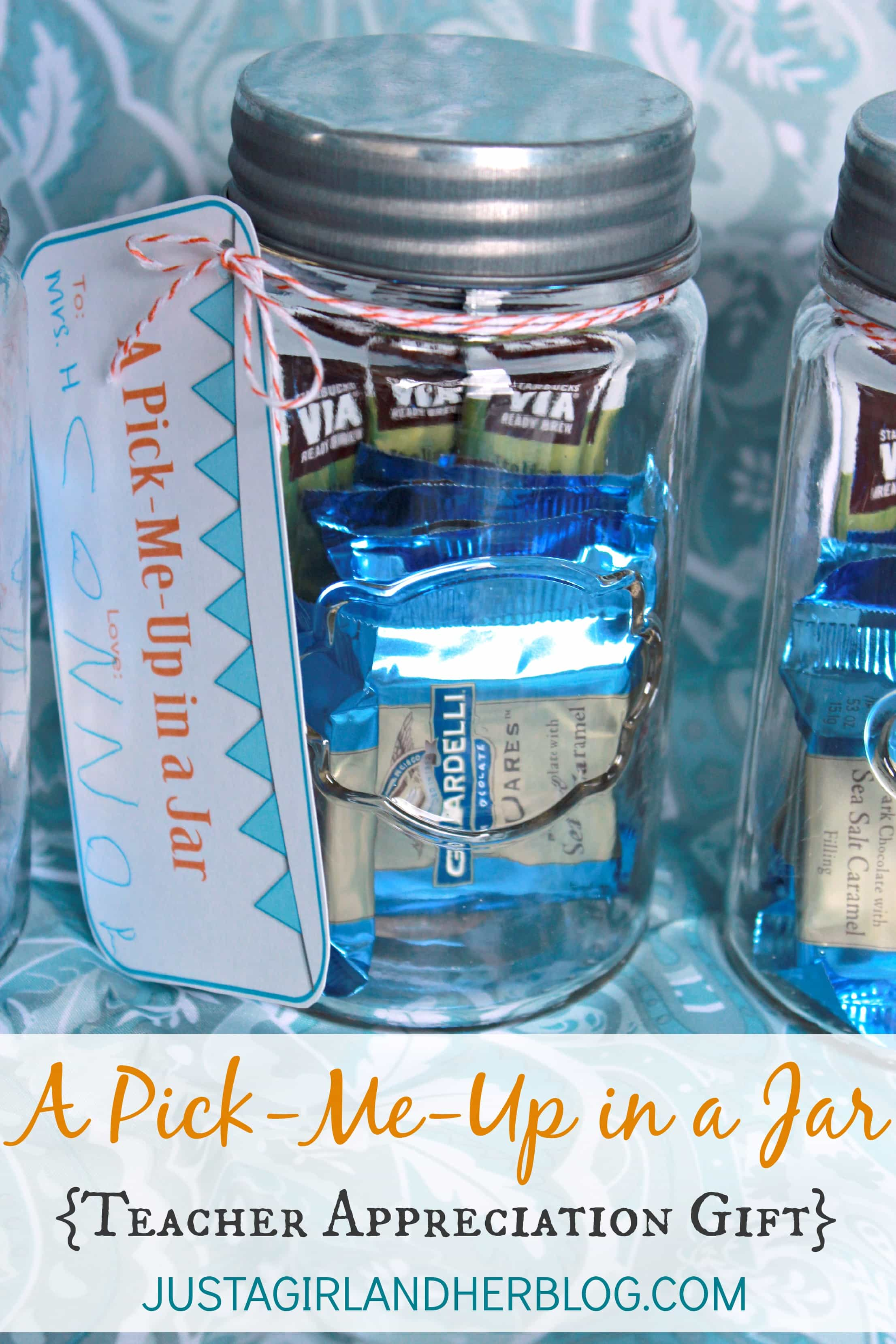 A Quot Pick Me Up Quot In A Jar Teacher Gift With Free Printables