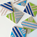 Anthropologie-Inspired Geometric Coasters