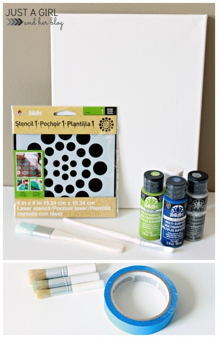 Stenciled DIY Art at JustAGirlAndHerBlog.com