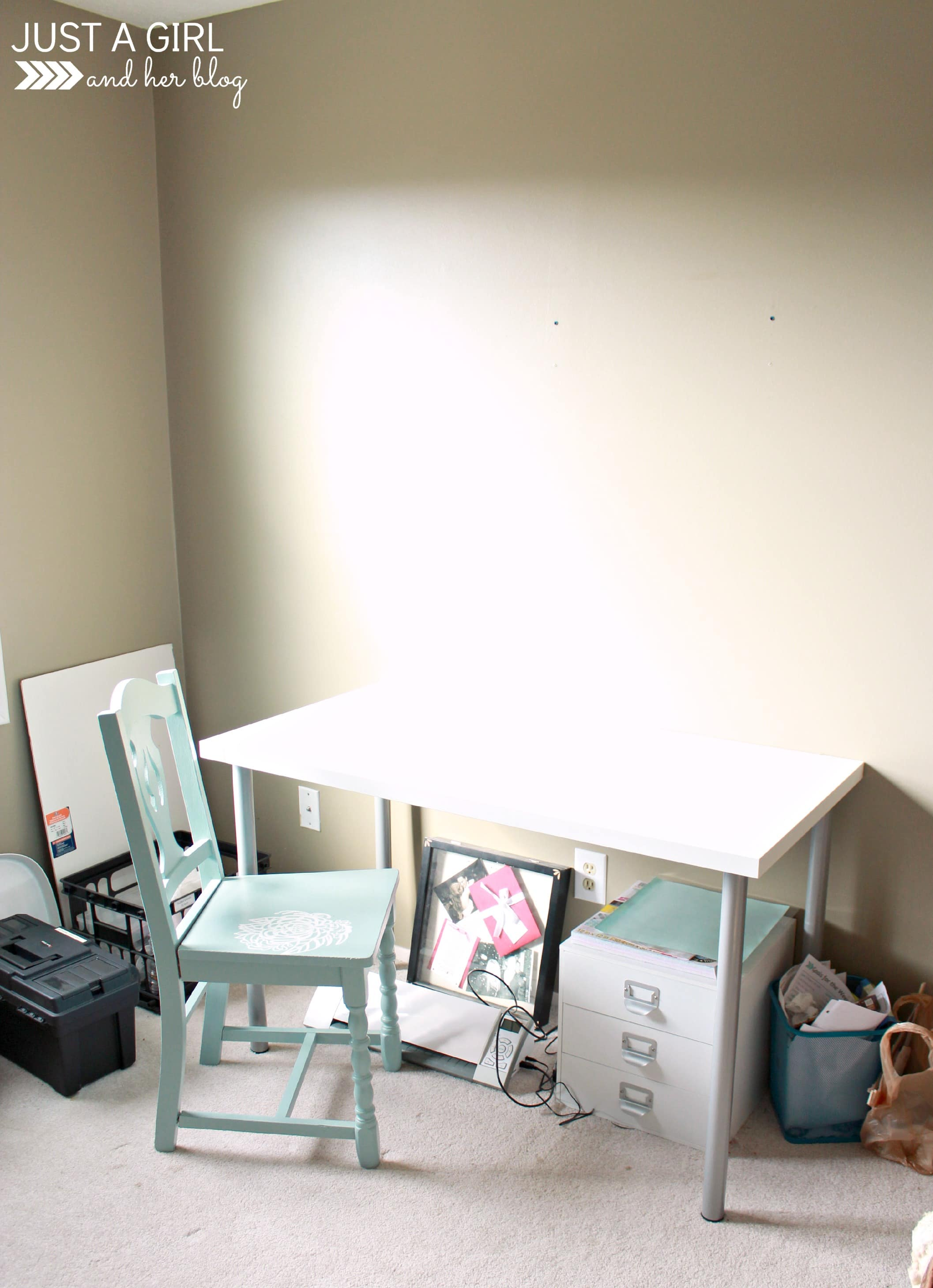 A Cozy Office Nook - Just a Girl and Her Blog