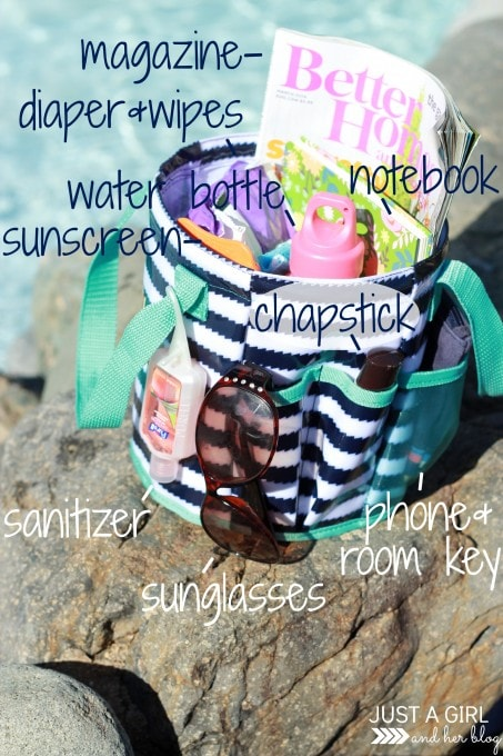Organized Beach Essentials by Just a Girl and Her Blog
