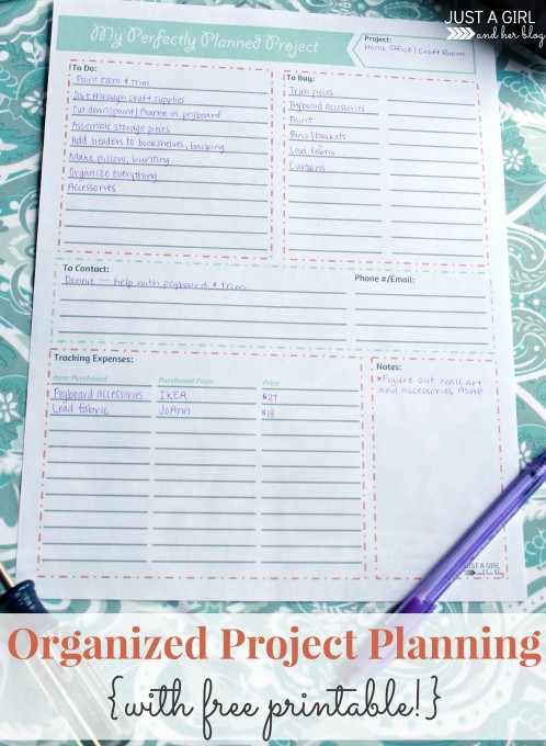 Project Planning Organizing Printable - Mom 4 Real