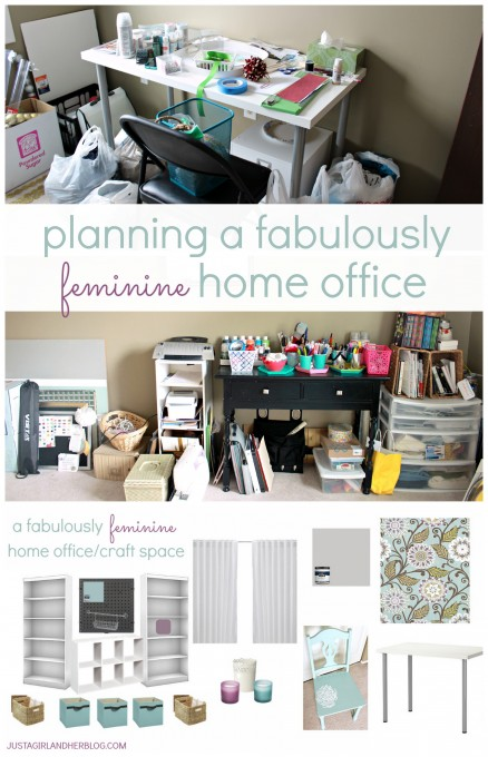 Planning a Fabulously Feminine Home Office by JustAGirlAndHerBlog.com