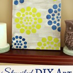 Stenciled DIY Art {with Stencil1 and FolkArt Paint}
