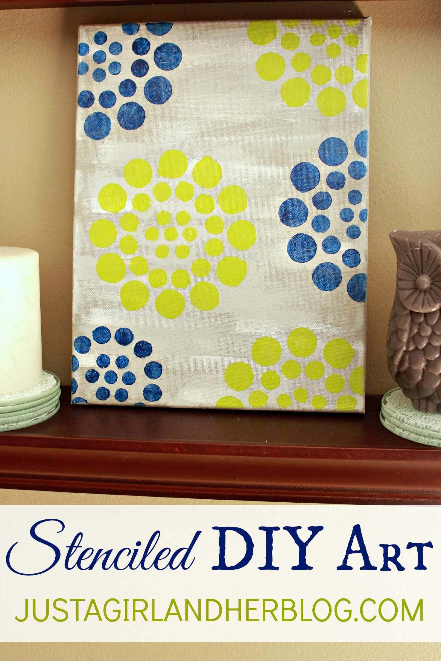 Stenciled DIY Art {with Stencil1 and FolkArt Paint} - Just a Girl ...