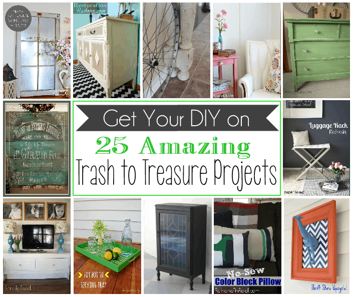 25 Diy Decorating Projects That You Are Inspired To Do: 25 Amazing Trash To Treasure Projects!
