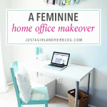 Fabulously Feminine Home Office Makeover Reveal
