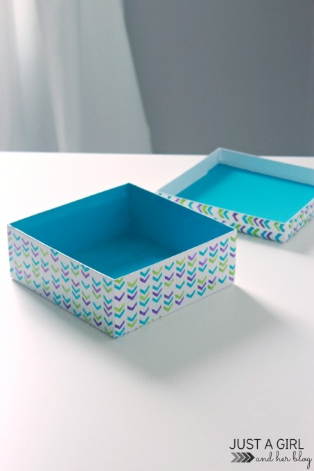 West Elm-Inspired Geometric Storage Box