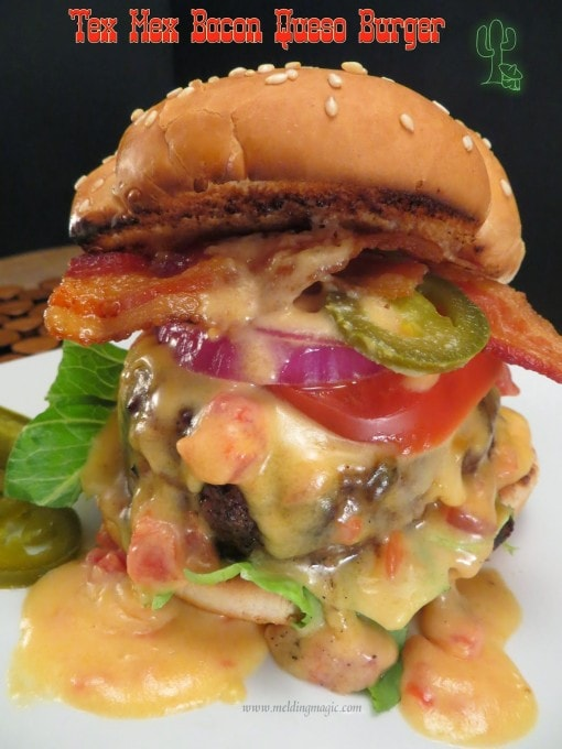 Melding Magic Tex Mex Bacon Queso Burgers