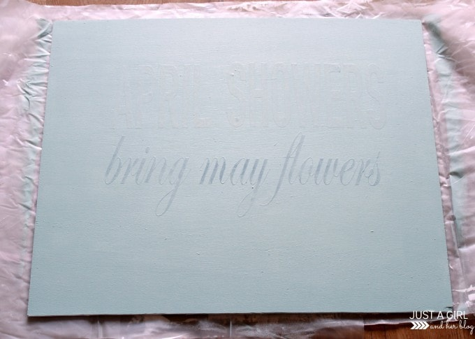 DIY Painted Sign and Giveaway at JustAGirlAndHerBlog.com