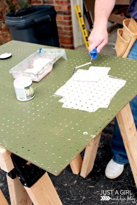 Trash to Treasure A Pegboard Makeover at JustAGirlAndHerBlog.com