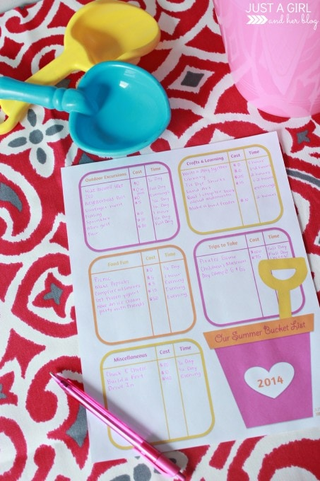 Our Summer Bucket List | Just a Girl and Her Blog at Mom 4 Real