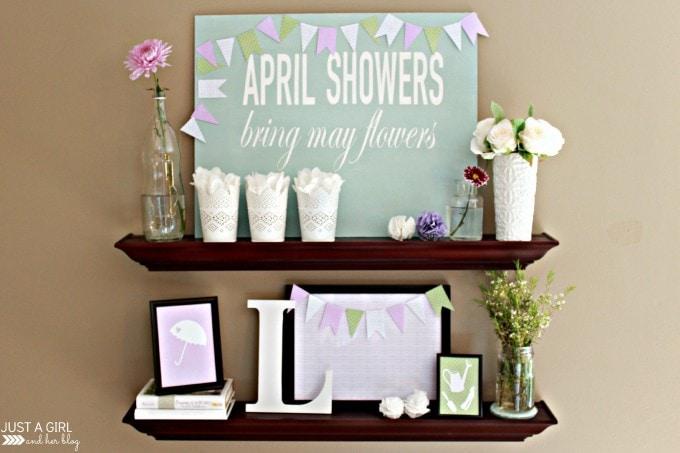 Spring Home Tour at JustAGirlAndHerBlog.com