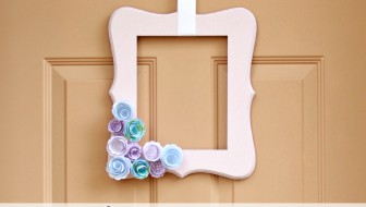 Simple Spring Door Decor at JustAGirlAndHerBlog.com