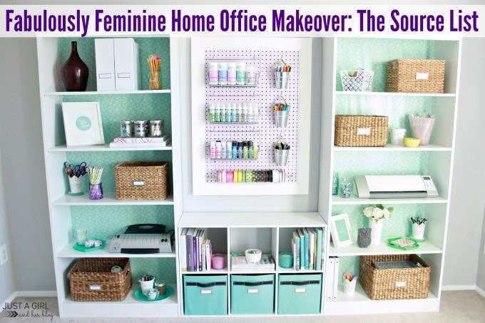 Home Office Sources at JustAGirlAndHerBlog.com