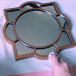 Customizing Mirrors with Rub 'n Buff