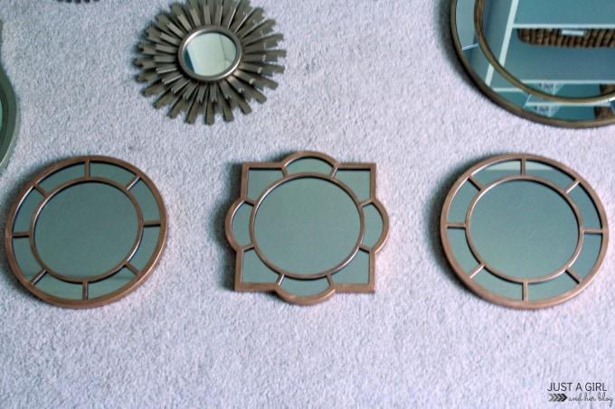 Customizing Mirrors with Rub n Buff at JustAGirlAndHerBlog.com