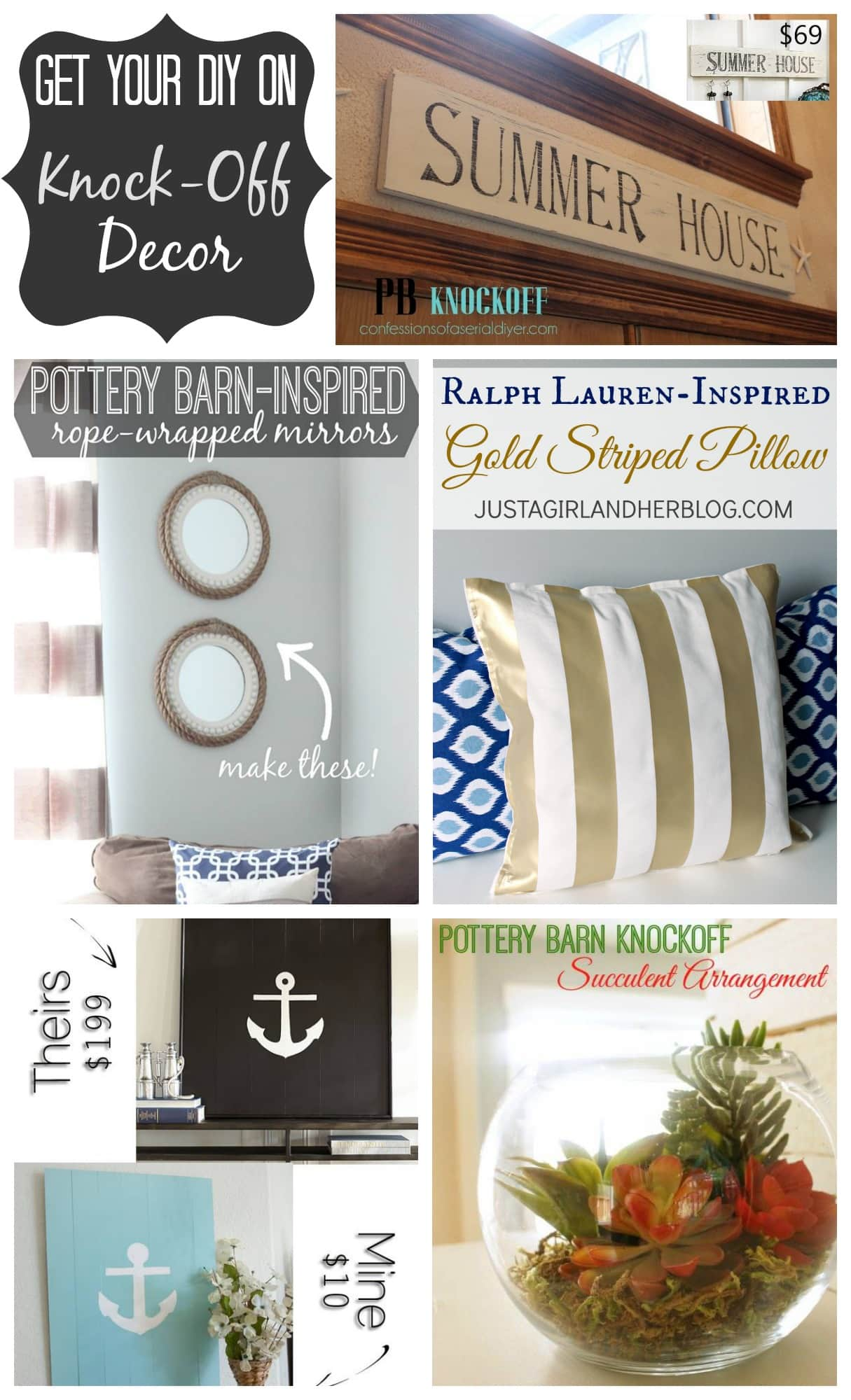 Knock Off Perfume: Ralph Lauren-Inspired Gold Striped Pillow