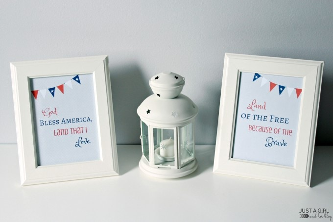 Patriotic 4th of July Prints | Just a Girl and Her Blog for Mom 4 Real