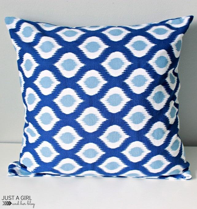 DIY Napkin Pillows at JustAGirlandHerBlog.com