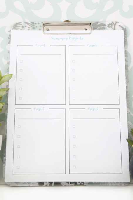 Organizing Summer Projects with Free Planning Printables