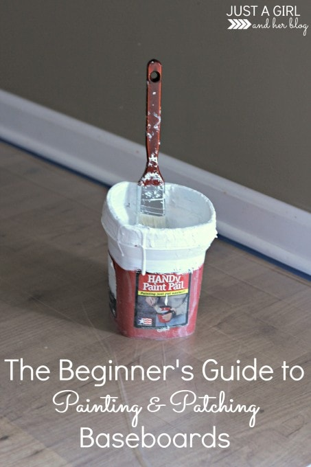 The Beginner's Guide to Painting and Patching Baseboards by Just a Girl and Her Blog