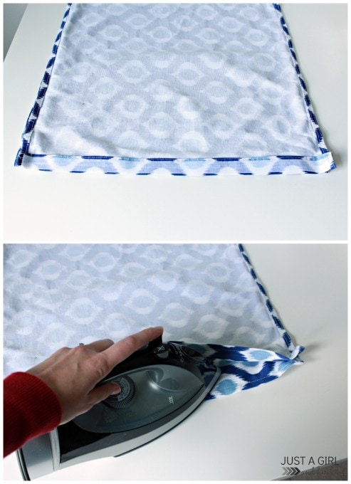 DIY Napkin Pillows at JustAGirlandHerBlog.com