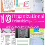 10 Organizational Printables for Summer