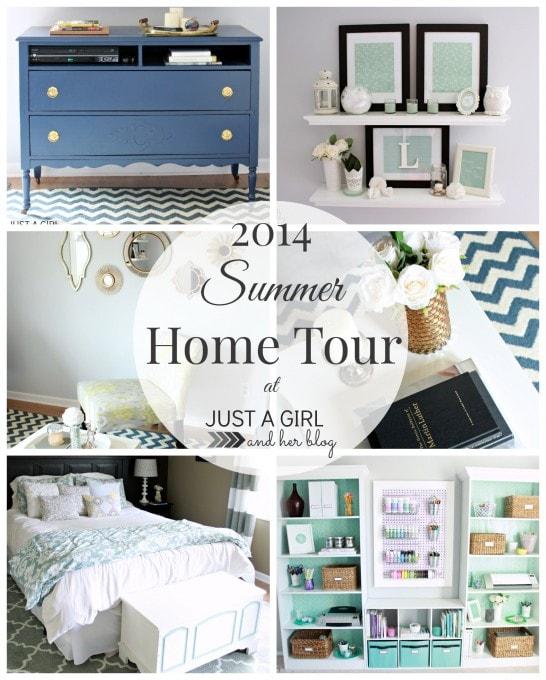 2014 Summer Home Tour at JustAGirlAndHerBlog.com